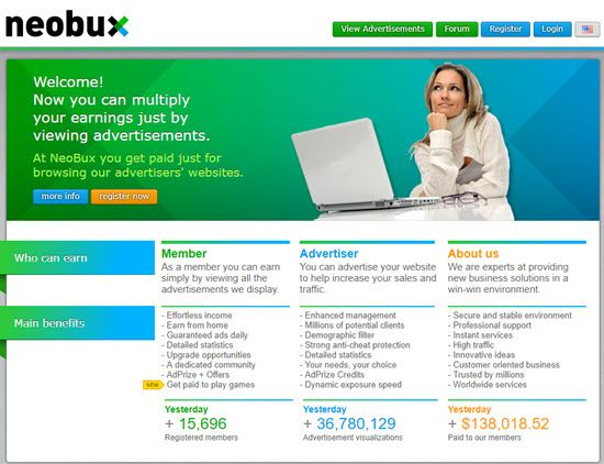 Neobux PTC Website